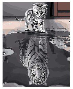 newplay tavla måla efter nummer akryl katt tiger (2)