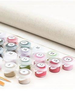 Newplay tavla måla efter nummer oljemålning akryl penslar färg (2)
