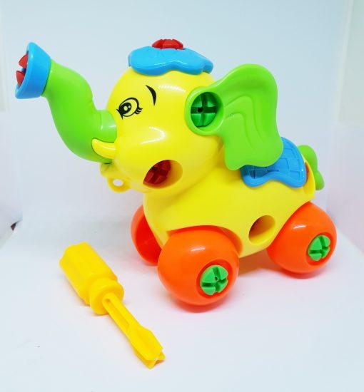 newplay byggmodell motorik leksak skruva ihop elefant