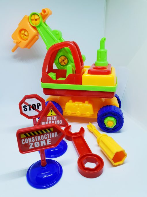 newplay byggmodell motorik leksak skruva ihop lyftkran 1