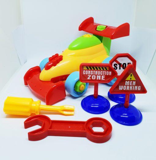 newplay byggmodell motorik leksak skruva ihop racerbil 1