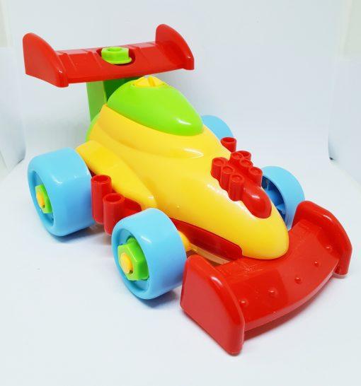 newplay byggmodell motorik leksak skruva ihop racerbil
