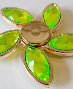 newplay fidget glas blomma guld-grön