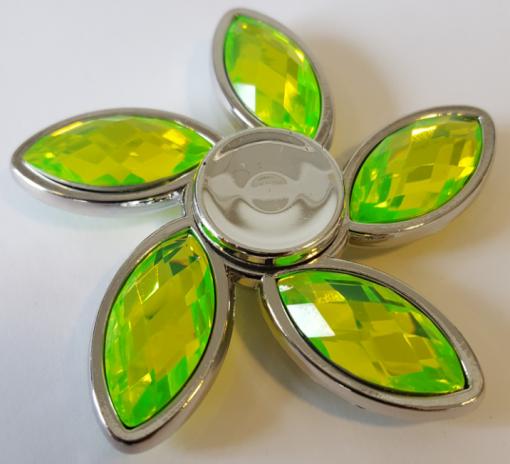 Newplay fidget spinner flower silver grön