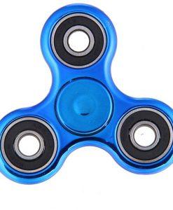 newplay fidget spinner metallfärgad blå