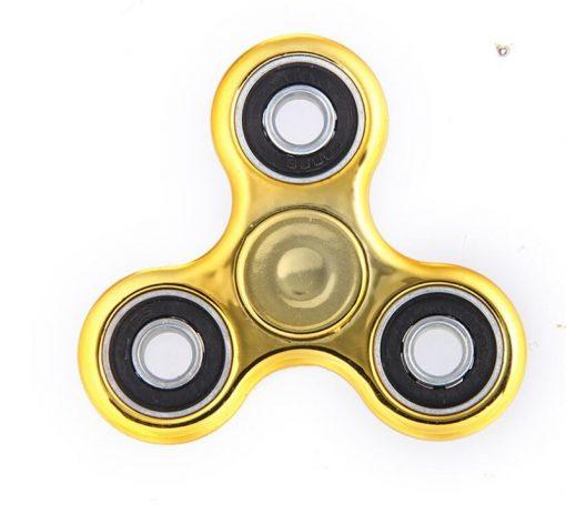 newplay fidget spinner metallfärgad guld