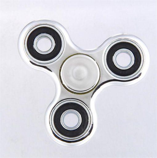 newplay fidget spinner metallfärgad silver