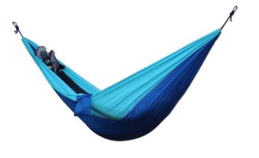 newplay hängmatta med myggnät nylon 210D ljusblå-mörkblå