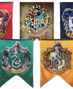 newplay harry potter flagga vimpel hogwarts gryffindor hufflepuff slytherin ravenclaw 1