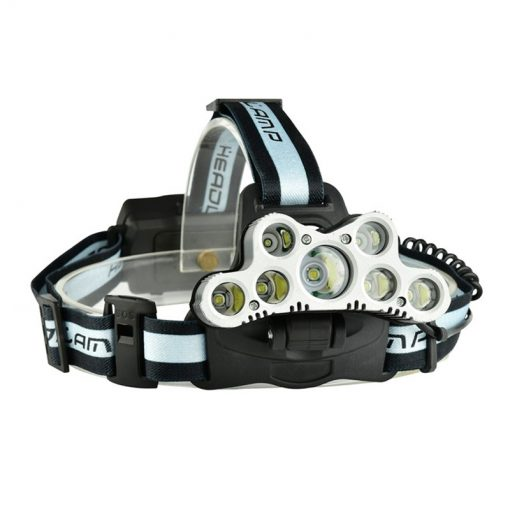newplay high-brightness-led-rechargeable-hunting-headlight-headlamp 9 led silver