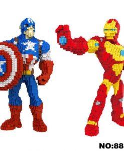 newplay minilego captain america iron man stor 8830