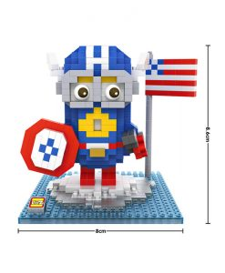 newplay minilego minion captain america 9537