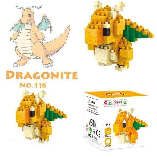 newplay pokemon blocks dragonite
