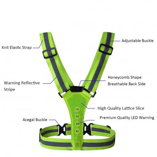 Newplay reflexband reflexväst ledbelysning one size fits all beskrivning