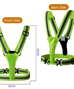 Newplay reflexband reflexväst ledbelysning one size fits all fram och bak