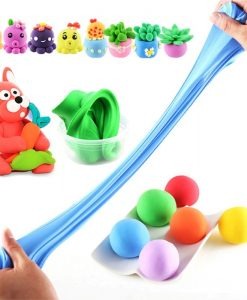 newplay slajm lera fluffy slime super stretch 2