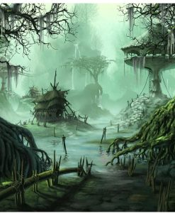 Newplay tavla måla efter nummer akryl grönskimrande skog (2)