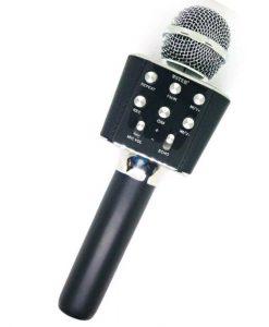 newplay ws-1688 karaoke mikrofon bluetooth svart