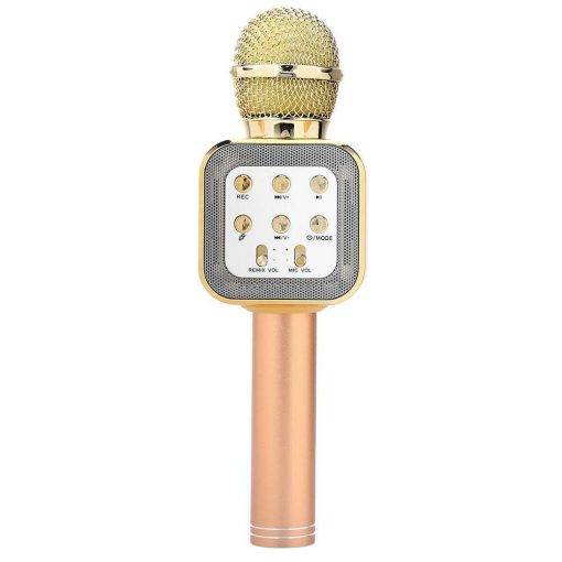 newplay ws-1818 bluetooth karaoke mikrofon guld