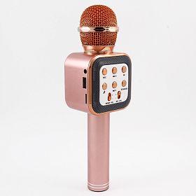 newplay ws-1818 bluetooth karaoke mikrofon ljusrosa