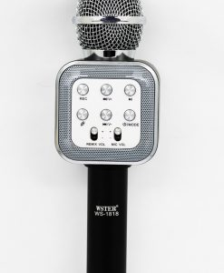 newplay ws-1818 bluetooth karaoke mikrofon svart