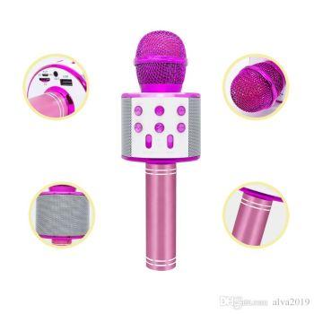 Newplay ws-858 light rosa KTV bluetooth karaokemikrofon
