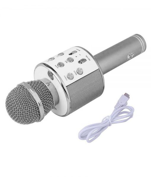 Newplay ws-858 light silver 1 KTV bluetooth karaokemikrofon