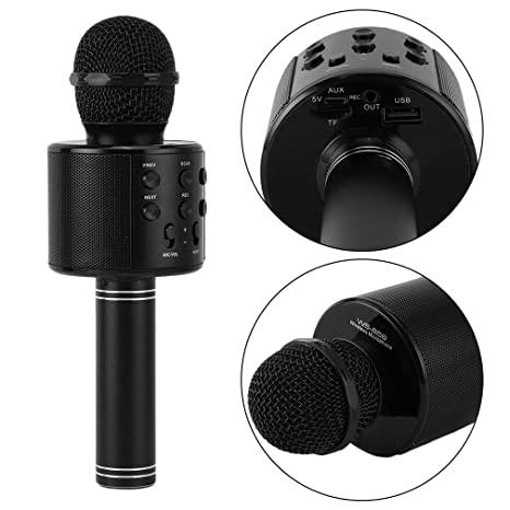 Newplay ws-858 light svart karaoke mikrofon bluetooth
